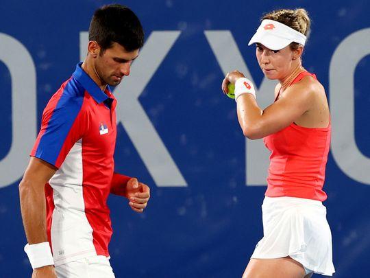 Tennis - Serbian pair
