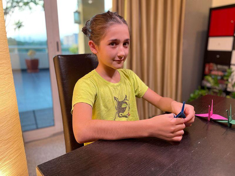Dubai student creates 600 paper cranes for international school display