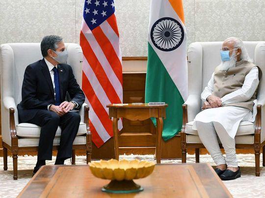 US Secretary of State Antony Blinken Indian Prime Minister Narendra Modi