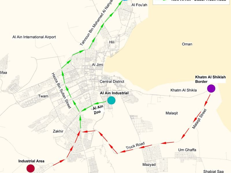 Heavy vehicles can now use Dubai-Al Ain Road, E66, between 10pm and 6am