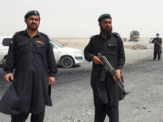 Chaman border pakistan afghan Frontier constabulary personnel
