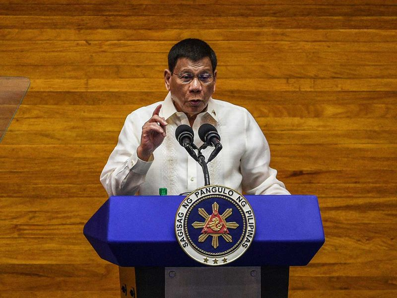 Philippines' Duterte says unvaccinated may be shut in