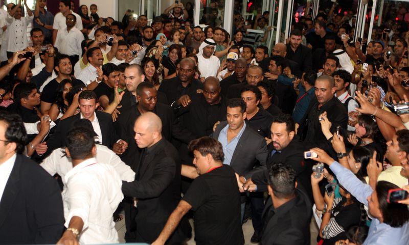 Salman Khan at the premiere of 'Ready' at Grand Cinemas in Dubai in 2011