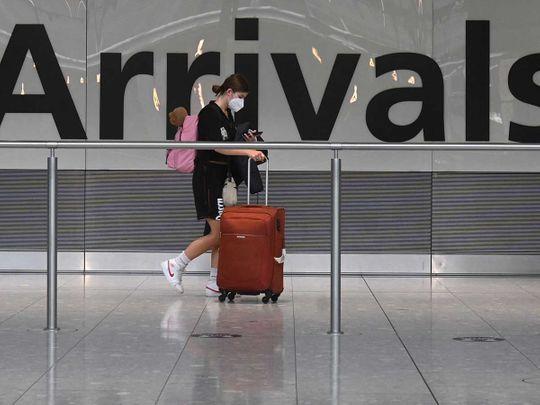 UK arrival flight airport