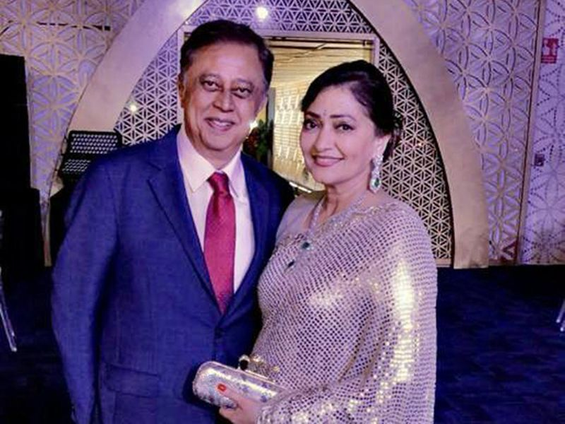 Yogesh Mehta with this wife