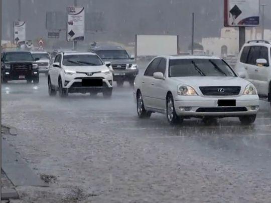 Rain in Masafi