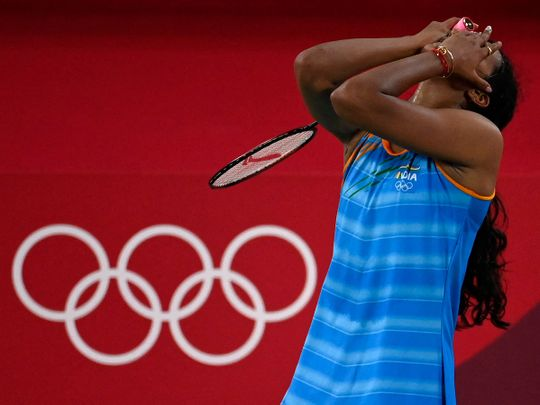 Olympics - Sindhu after winning her medal