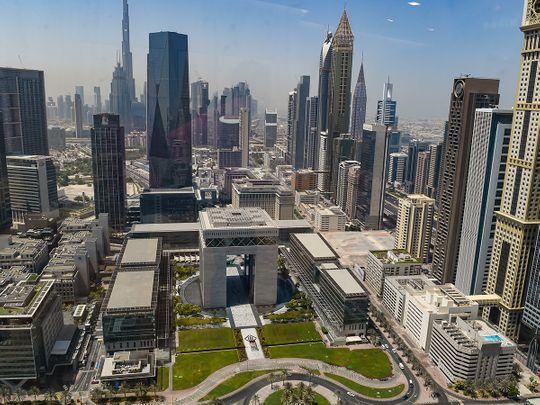 STOCK Dubai skyline DIFC