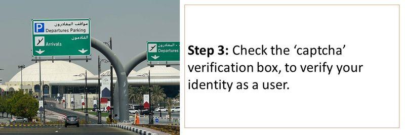 Step 3: Check the 'captcha' verification box, to verify your identity as a user.