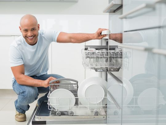 A man and his dishwasher