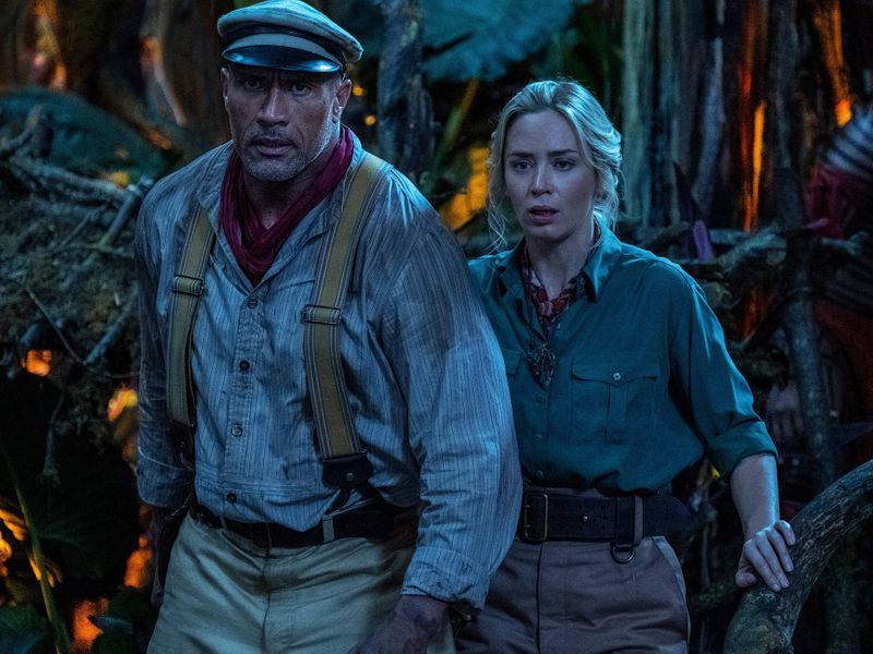 Dwayne Johnson and Emily Blunt in 'Jungle Cruise'