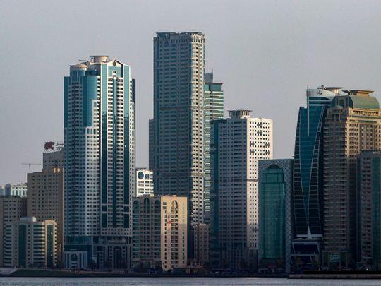 Stock Sharjah skyline residential