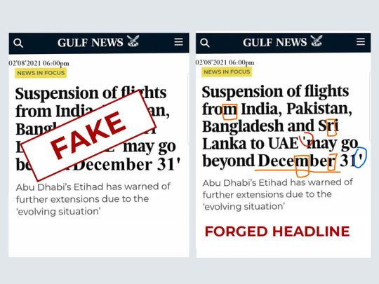 Fake headline