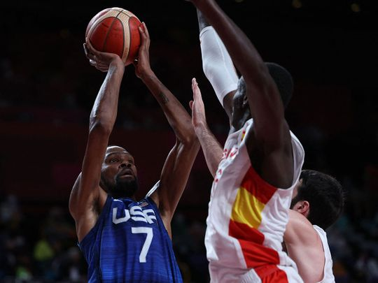 Kevin Durant helped the USA defeat Spain