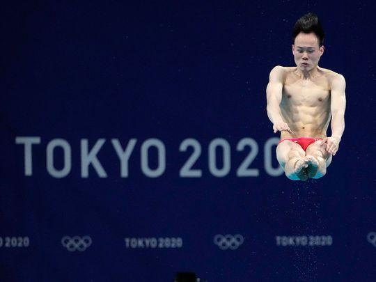Xie Siyi won diving gold