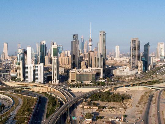 Stock Kuwait skyline city
