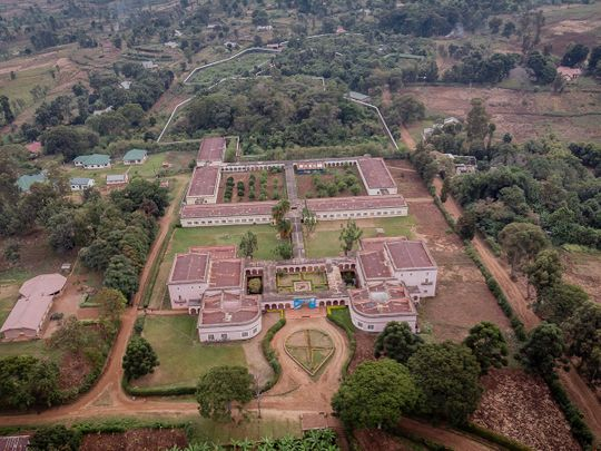 Aerial view of the Lwiro Natural Science Research Center