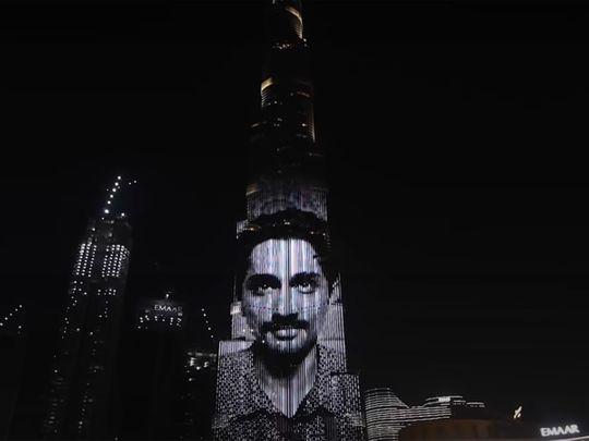 A clip from 'Navarasa' on The Burj Khalifa