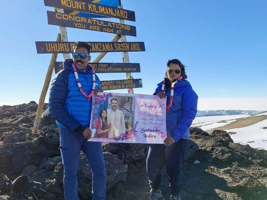 Indian couple who celebrated wedding anniversary In Kilimanjaro 1-1628346093545