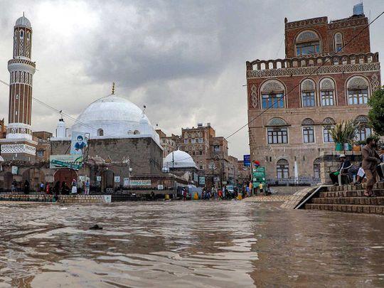 yemen mosque flood