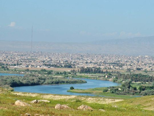 A view of Tigris river flowing in Iraq