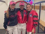 The Ladies team of Nicola Currie, Hayley Turner and Mickaelle Michel won the Dubai Duty Free Shergar Cup