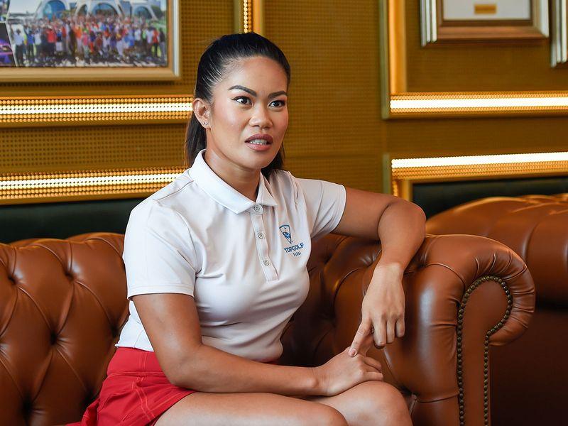 Dyenzen (Jen) Davidson has taken up golf at Emirates Golf Club in a big way. Photos by Virendra Saklani/Gulf News