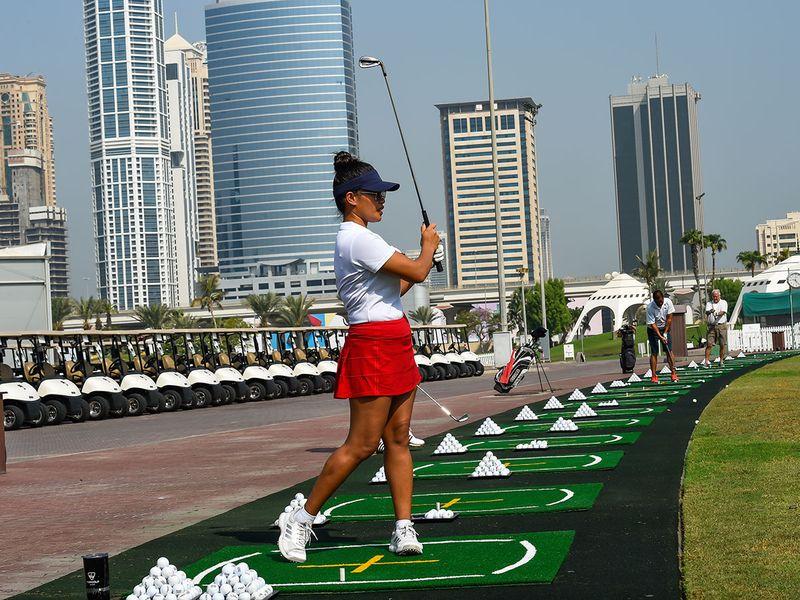 Dyenzen (Jen) Davidson has taken up golf at Emirates Golf Club in a big way