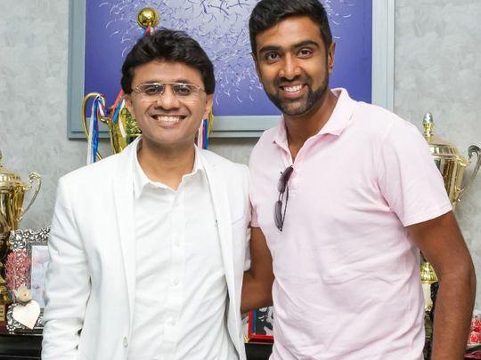 Cricket - Anis Sajan (left) and Ravi Ashwin
