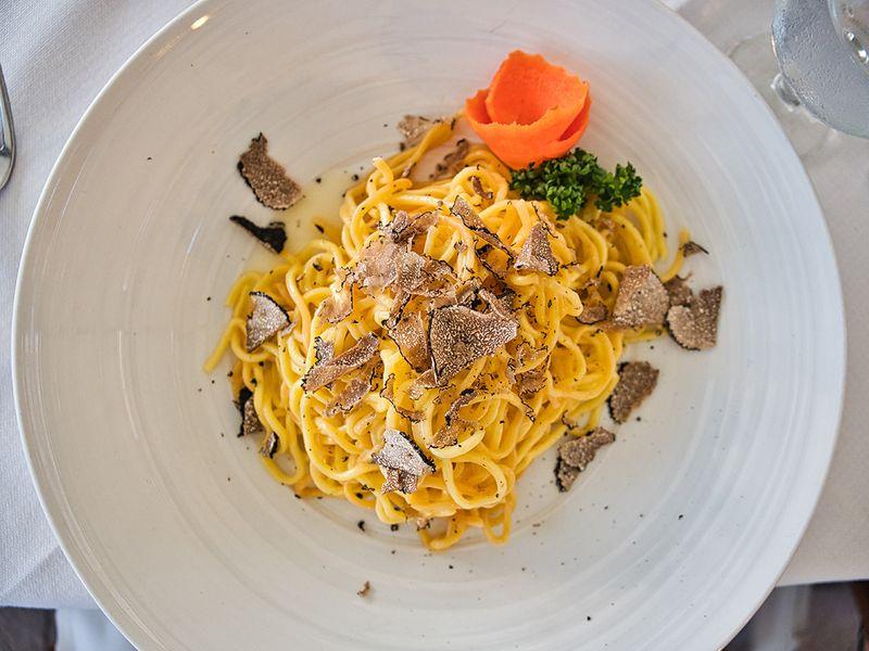 Pasta and truffles