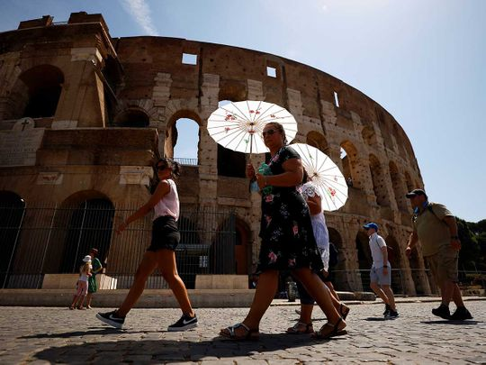 Italy colosseum heatwave