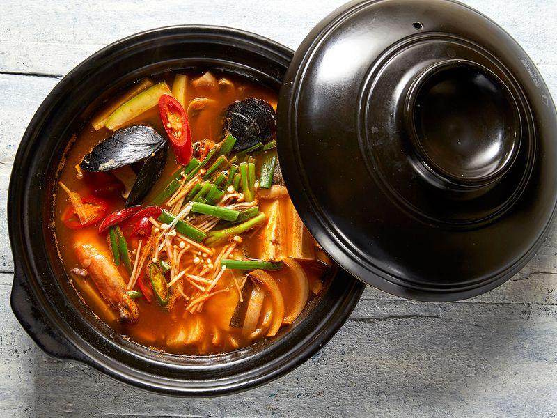 Korean seafood hotpot haemul jeongol