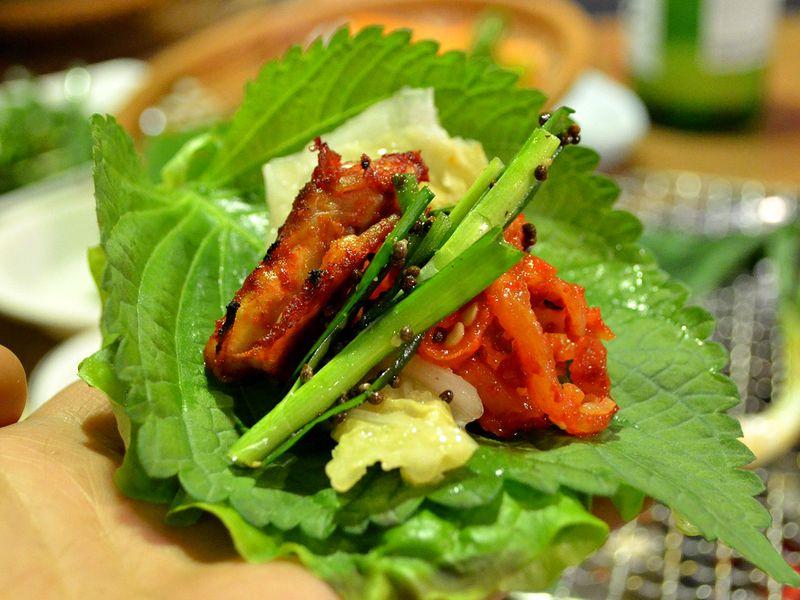 perilla leaf korean bbq