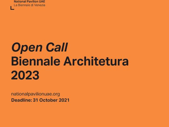 Courtesy of National Pavilion UAE - La Biennale di Venezia-1628841973463