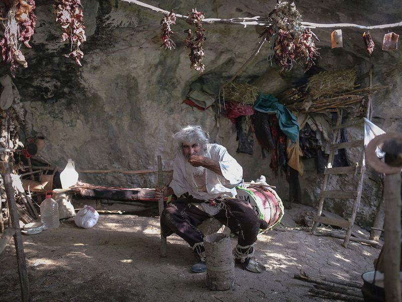 Serbian cave hermit gallery