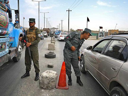 Afghan police kabul