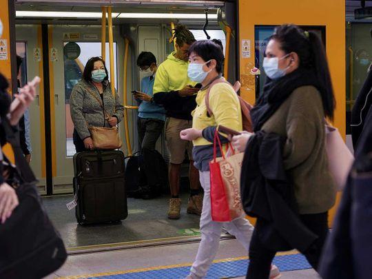 Australia sydney train covid mask