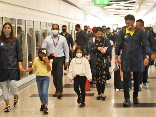 MS Dhoni and Chennai Super Kings touched down in Dubai