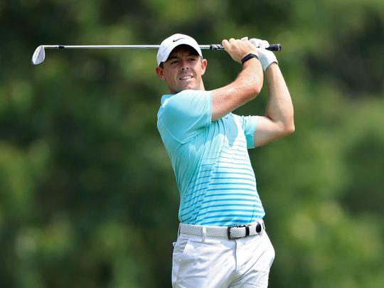 Rory McIlroy of Northern Ireland during the final round of the FedEx St Jude Invitational at TPC Southwind in Memphis