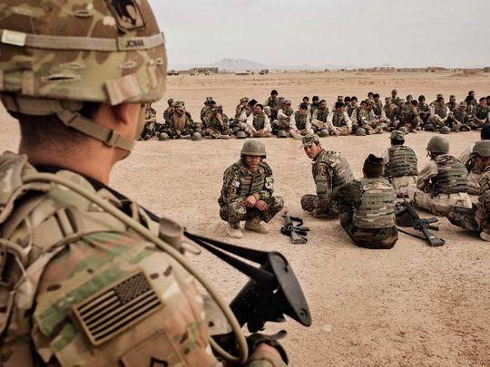 US Afghan troops Camp Bastion