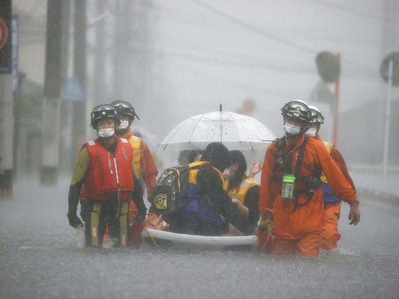 japan rain flood