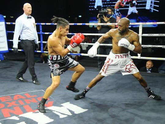 Austin Trout defeated Mexico's Alejandro Davila at Legacy Boxing Series - Atlantis, The Palm in Dubai