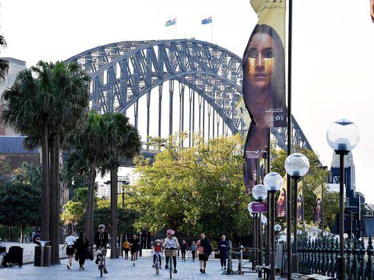 Australia sydney harbour bridge lockdown