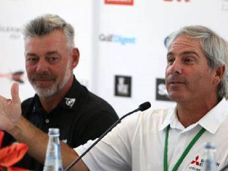 Darren Clarke and Fred Couples captained the teams during the Icons Cup 2015 Dubai