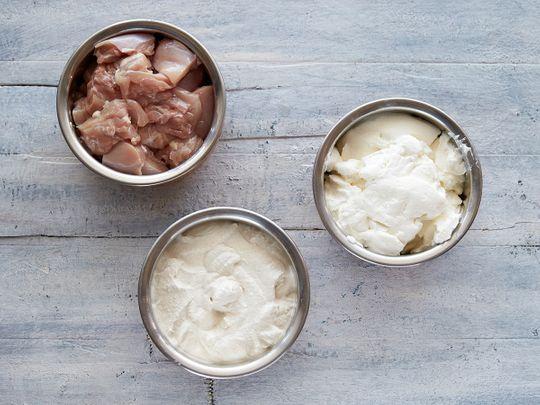Ingredients for chicken tikka masala marination