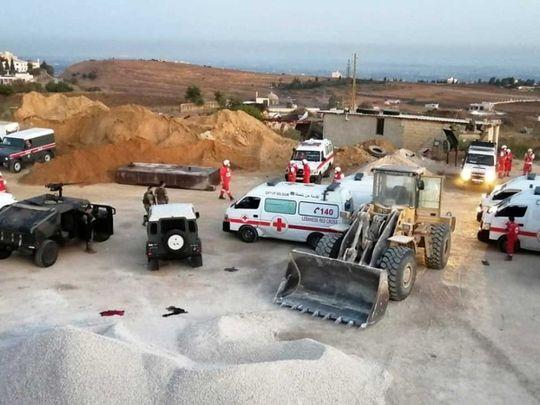 Lebanon tanker explosion