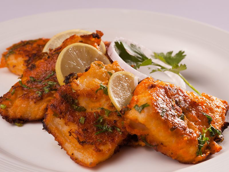 Spicy fish tikka