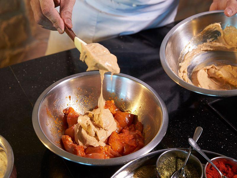 Chicken tikka masala marination