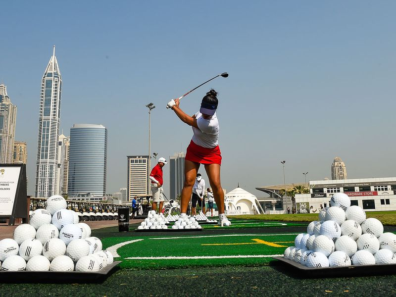 Dyen Davidson at Emirates Golf Club