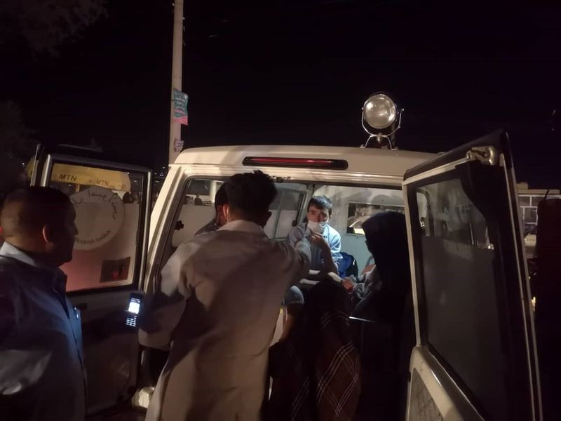 Kabul Afghan street ambulance